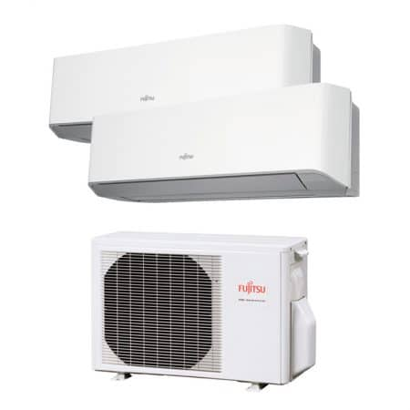 Aire acondicionado Multisplit 2x1 Inverter Fujitsu AOY40UIMI2ASY20MILMCASY20MILMC